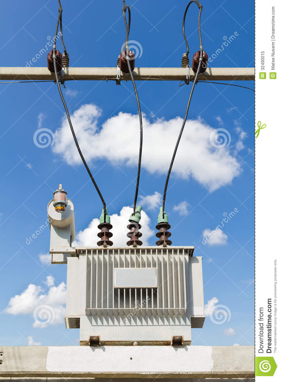 Oil Immersed Transformer Stock Image Image Of Phase
