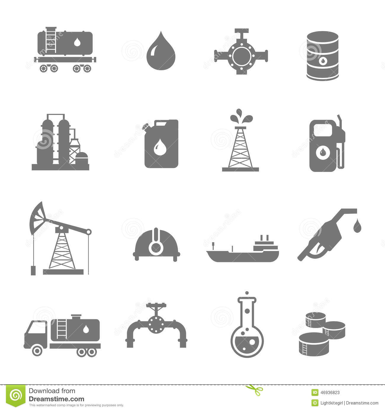 Oil industry gasoline processing symbols icons set stock vector oil industry gasoline processing symbols icons set biocorpaavc