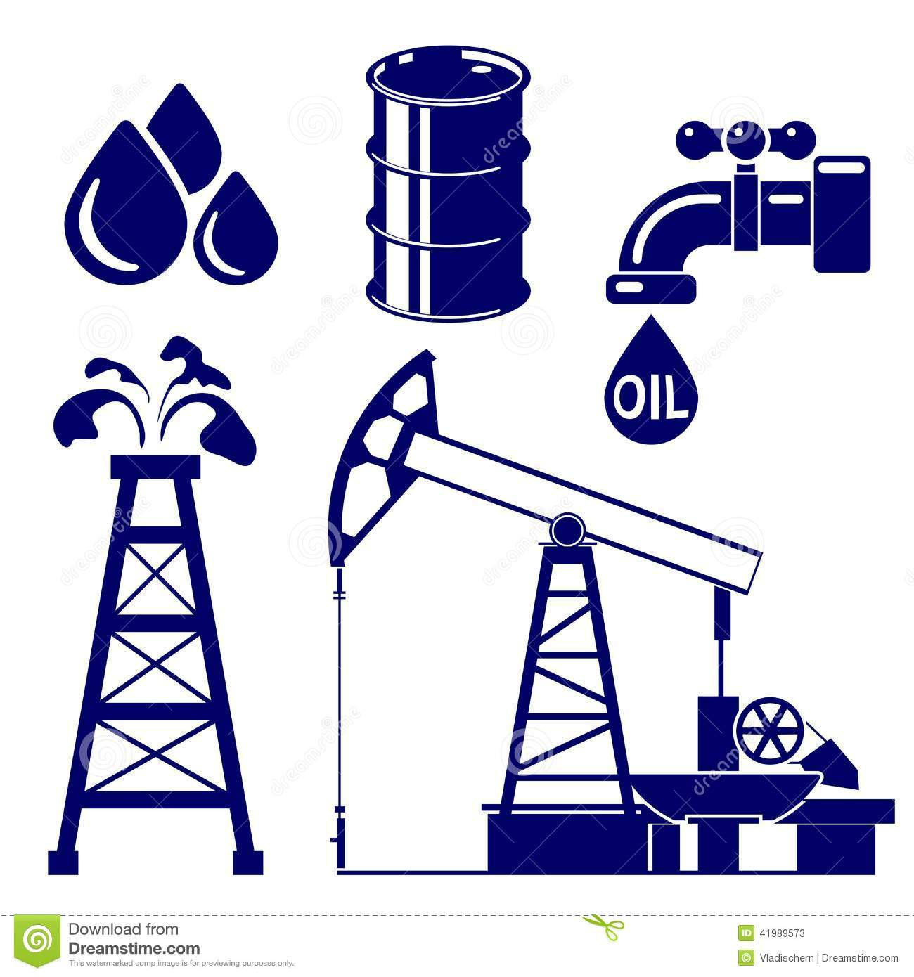 oil industry icon set vector illustration stock vector Oil Derrick Dragons Oil Derrick Dragons