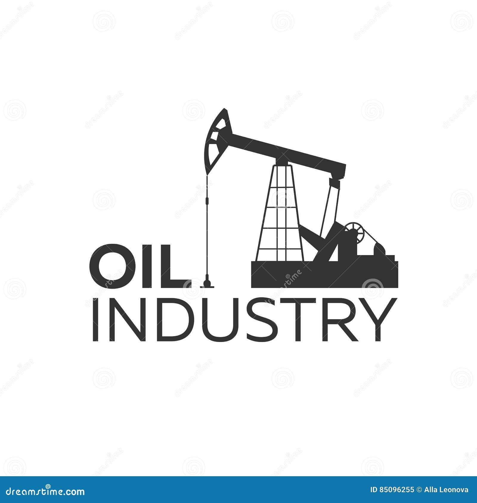 oil industry logo tower oil exploration vector flat