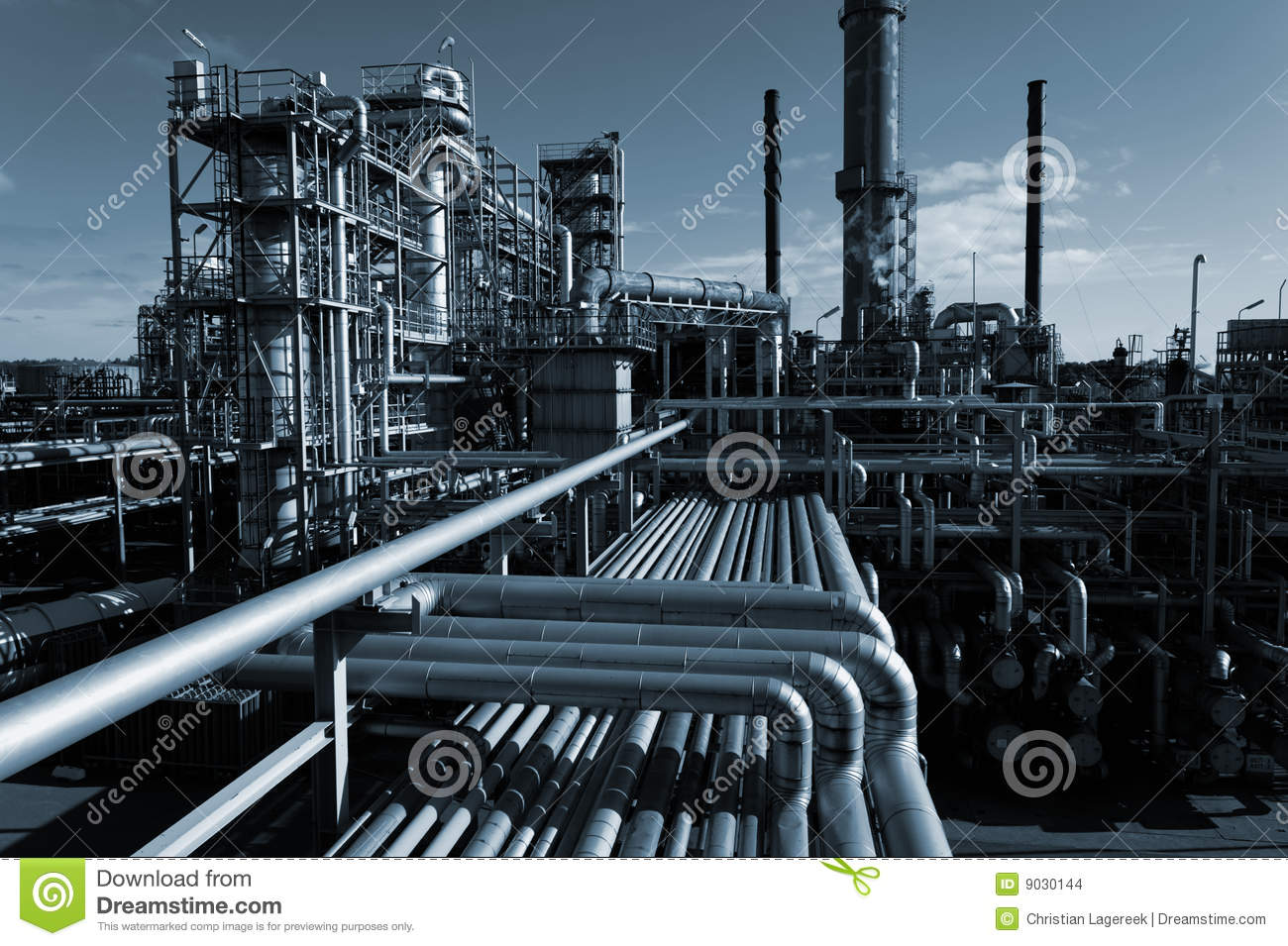 Oil industry at night