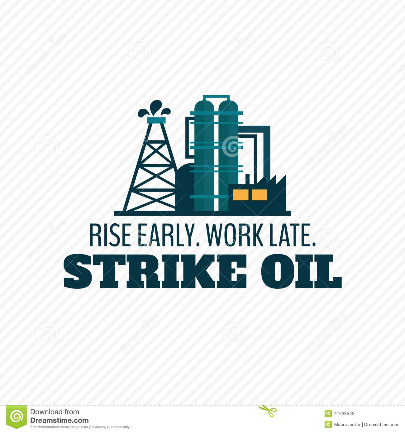 Oil Industry Poster Stock Vector - Image: 41638543