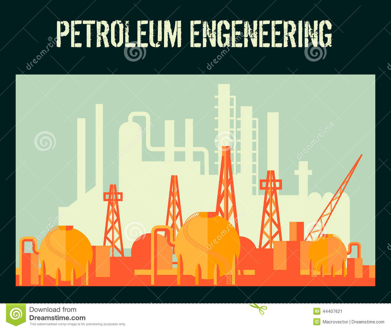 Oil Industry Poster Stock Vector - Image: 44407621