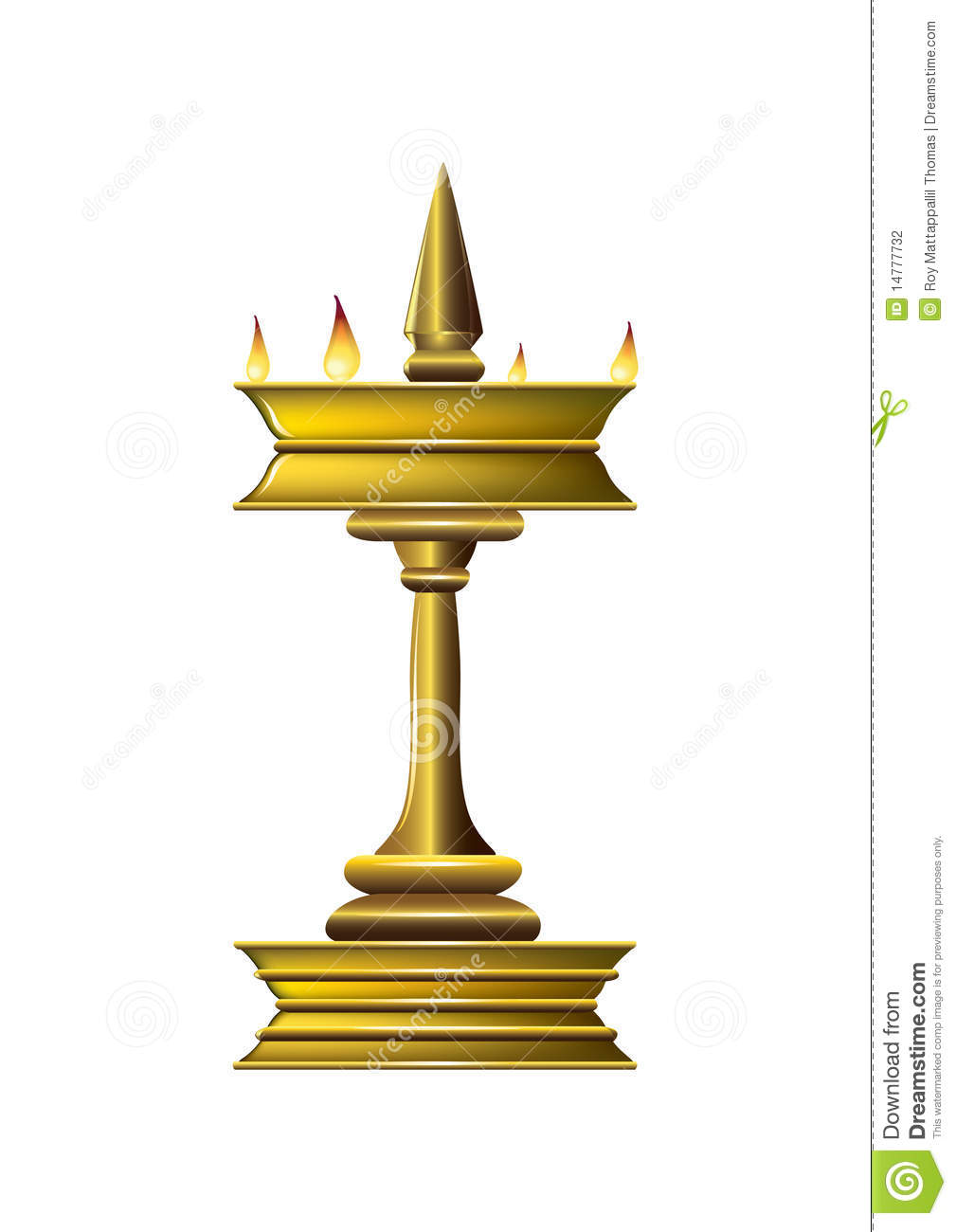 Oil Lamp Stock Photography Image 14777732