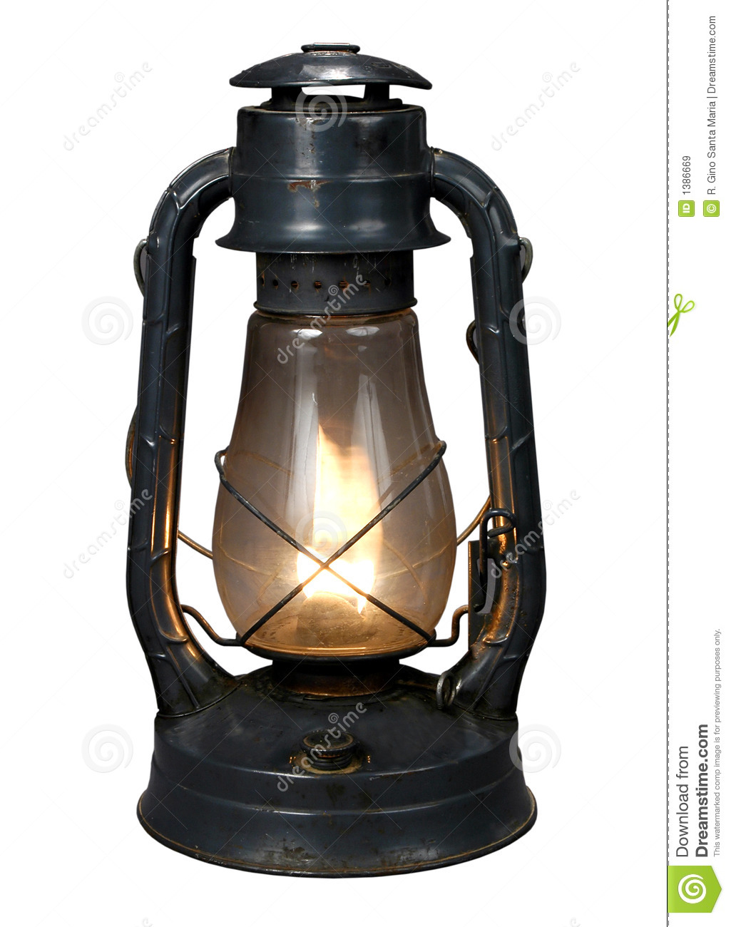 Oil Lamp (With CLipping Path{