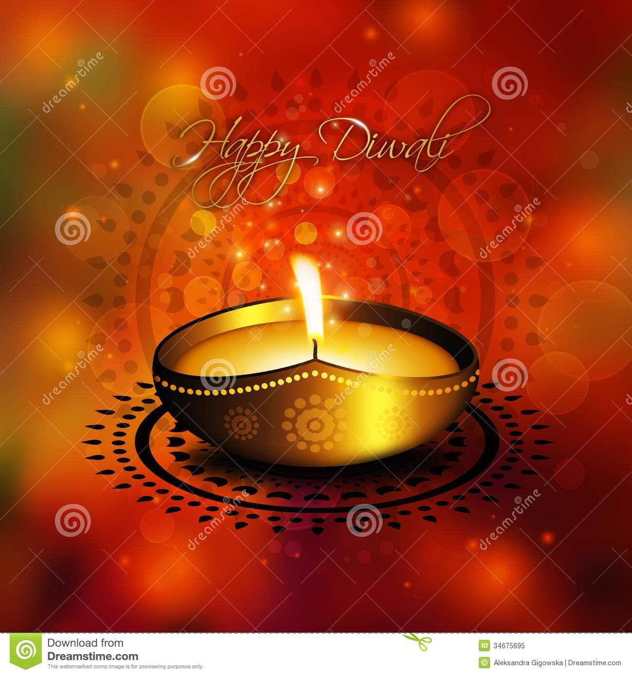 Diwali Greetings In Gujarati Language Stock Vector Illustration Of