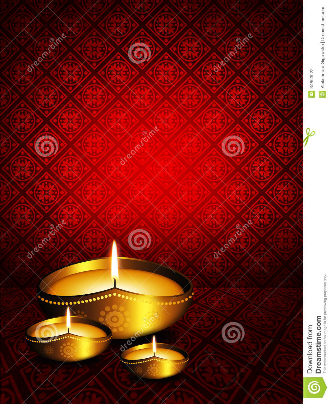 Oil lamp with diwali greetings over dark background stock oil lamp with diwali greetings over dark background m4hsunfo Images