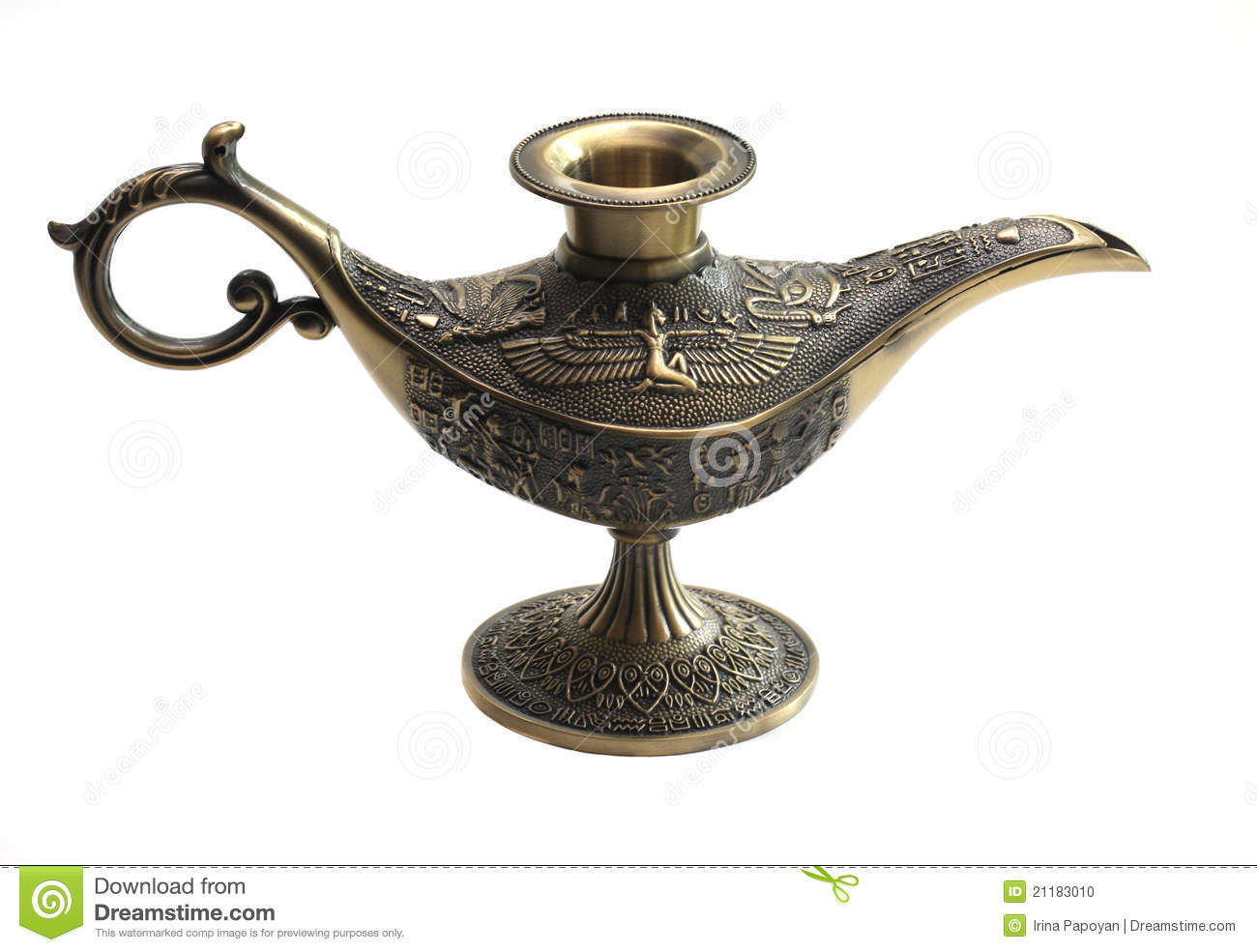 Oil Lamp East Design With Egypt Texture Stock Photo Image Of Isolated Alladin 21183010