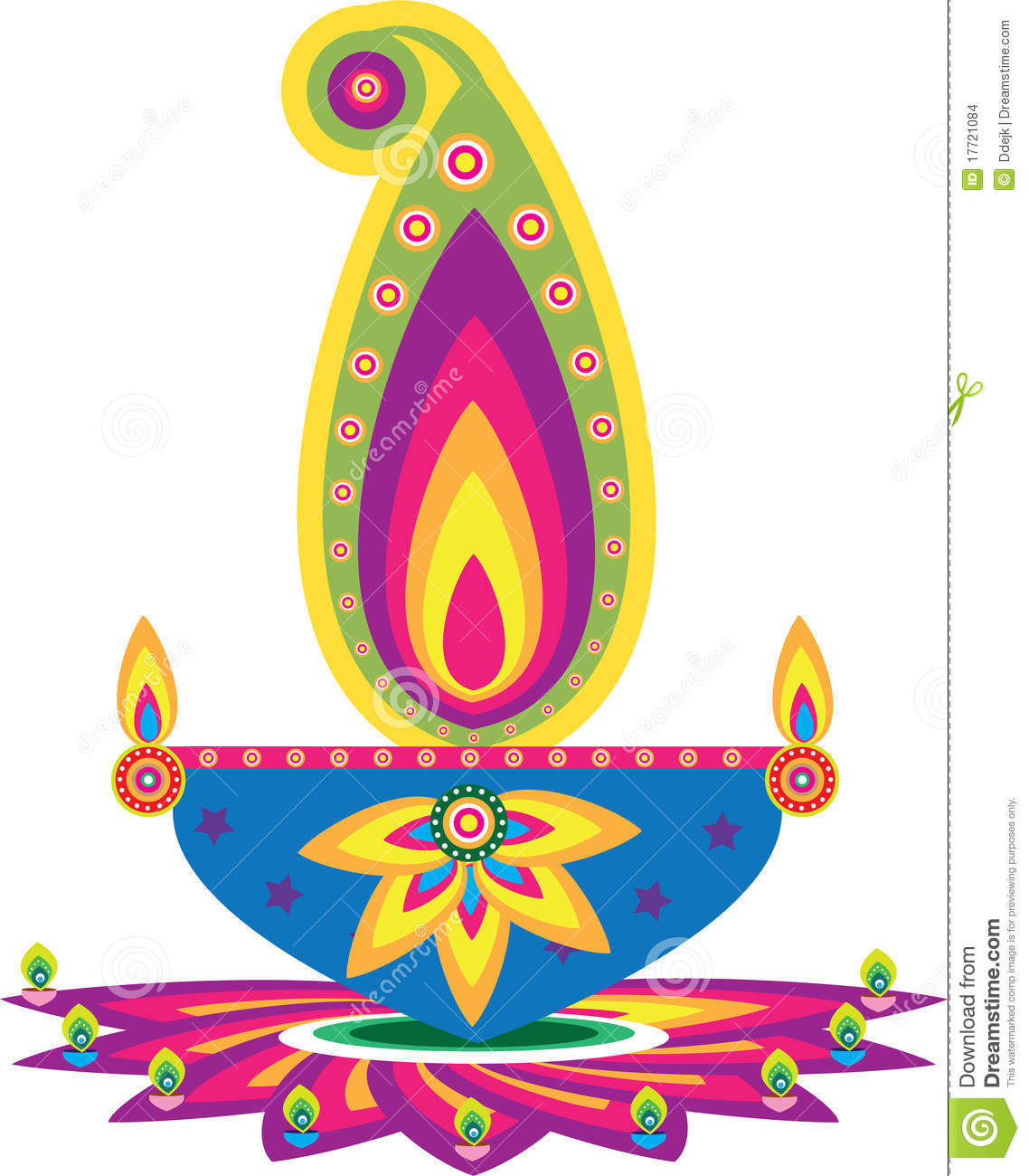 Oil Lamp Pattern Stock Vector Illustration Of Colorful
