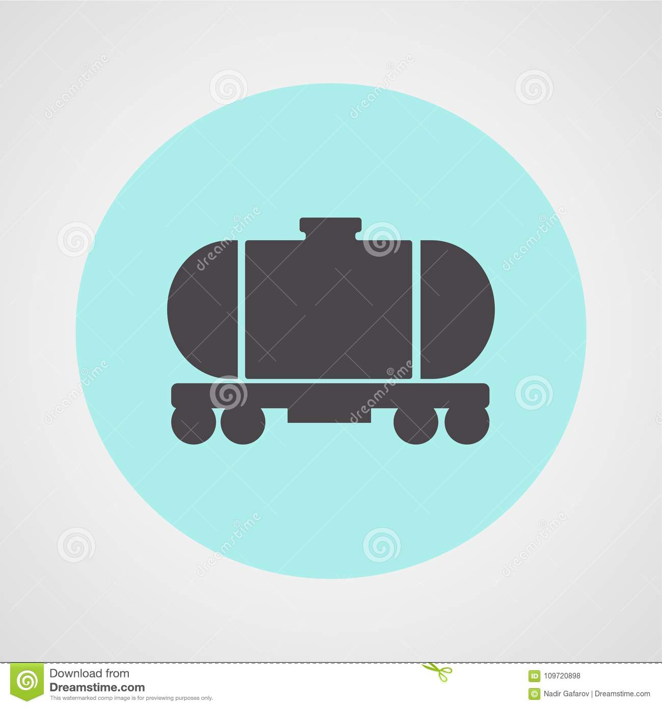 Oil or liquid barrel carriage isolated flat vector icon