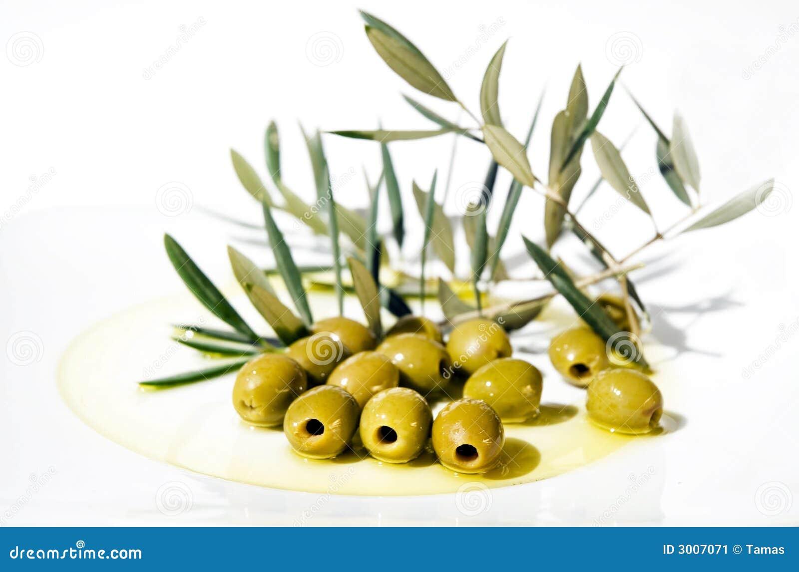 Oil olive olives plate