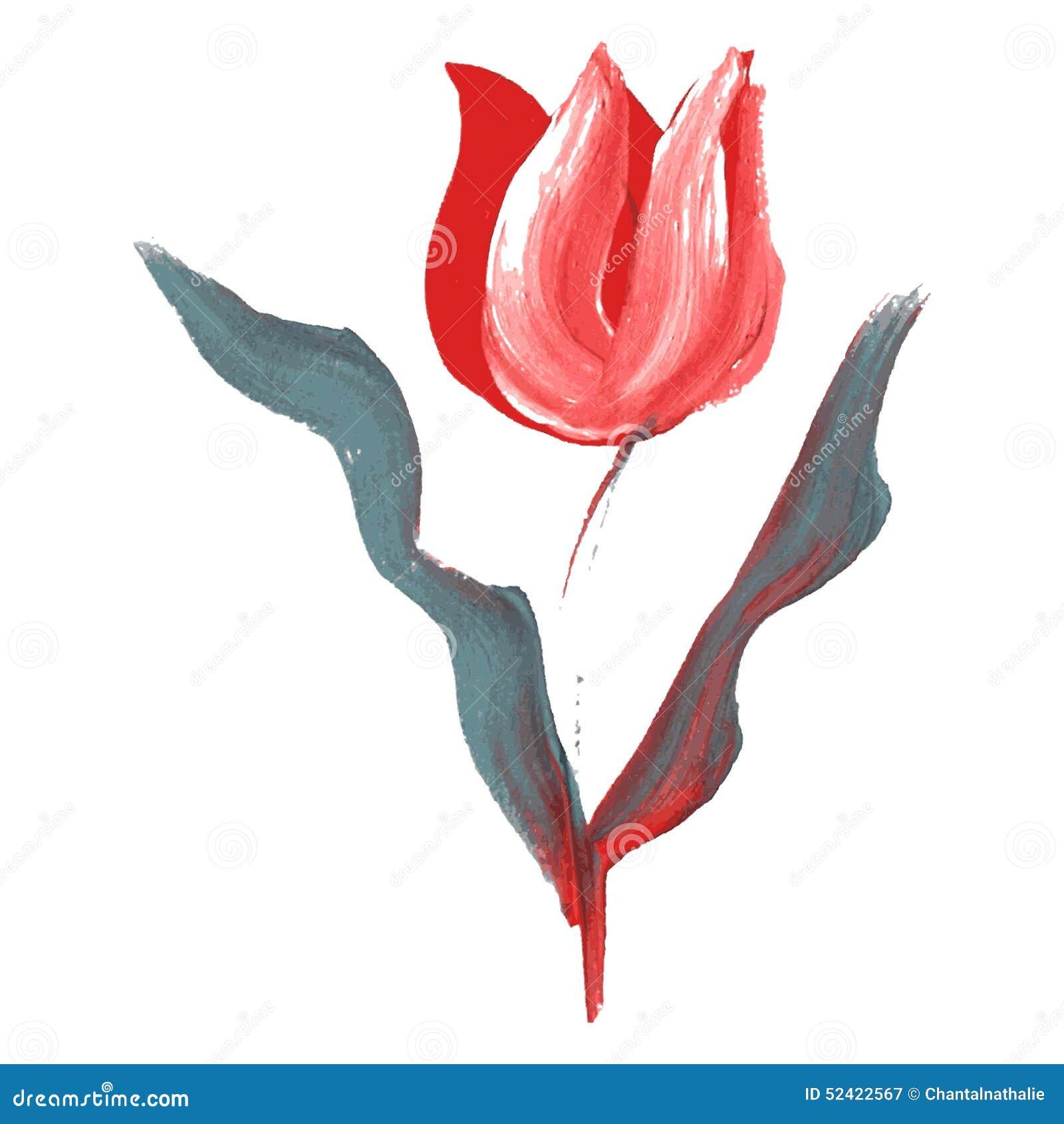 Oil painted flower