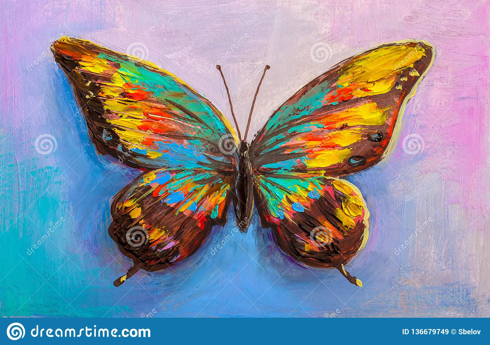 Abstract Painting Butterfly Stock Illustration Illustration Of