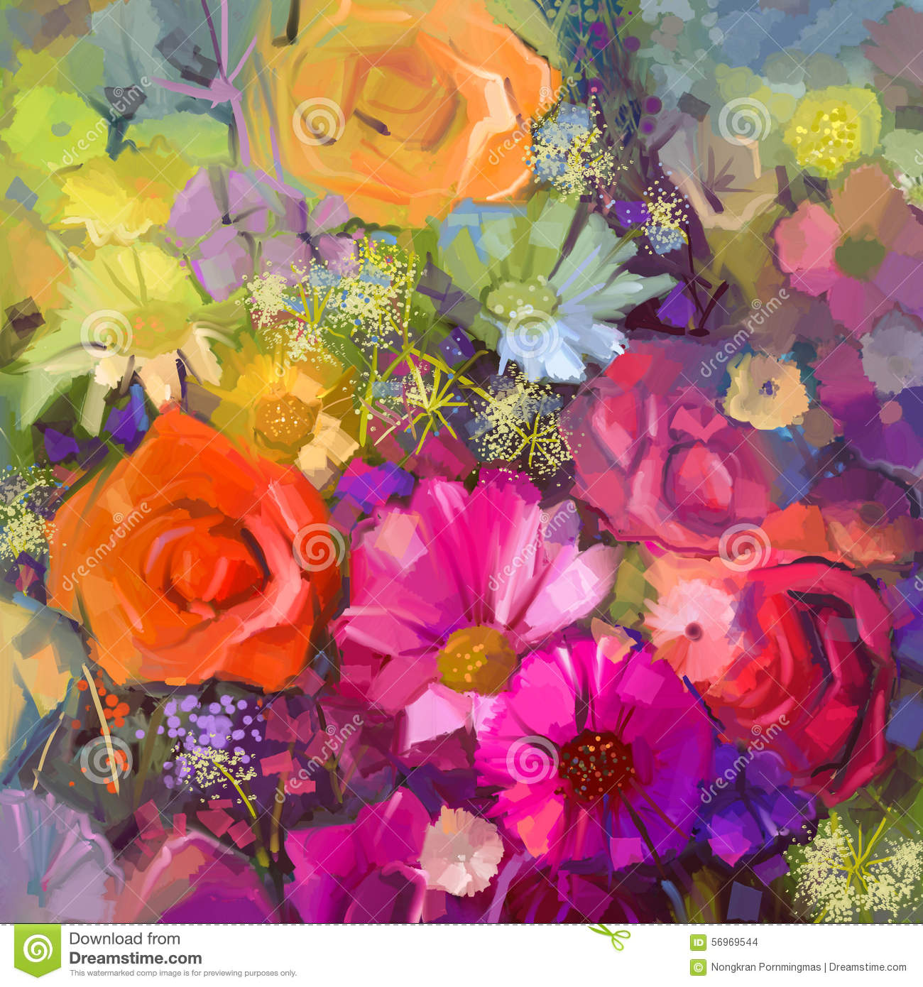 Floral Oil Paintings Flowers