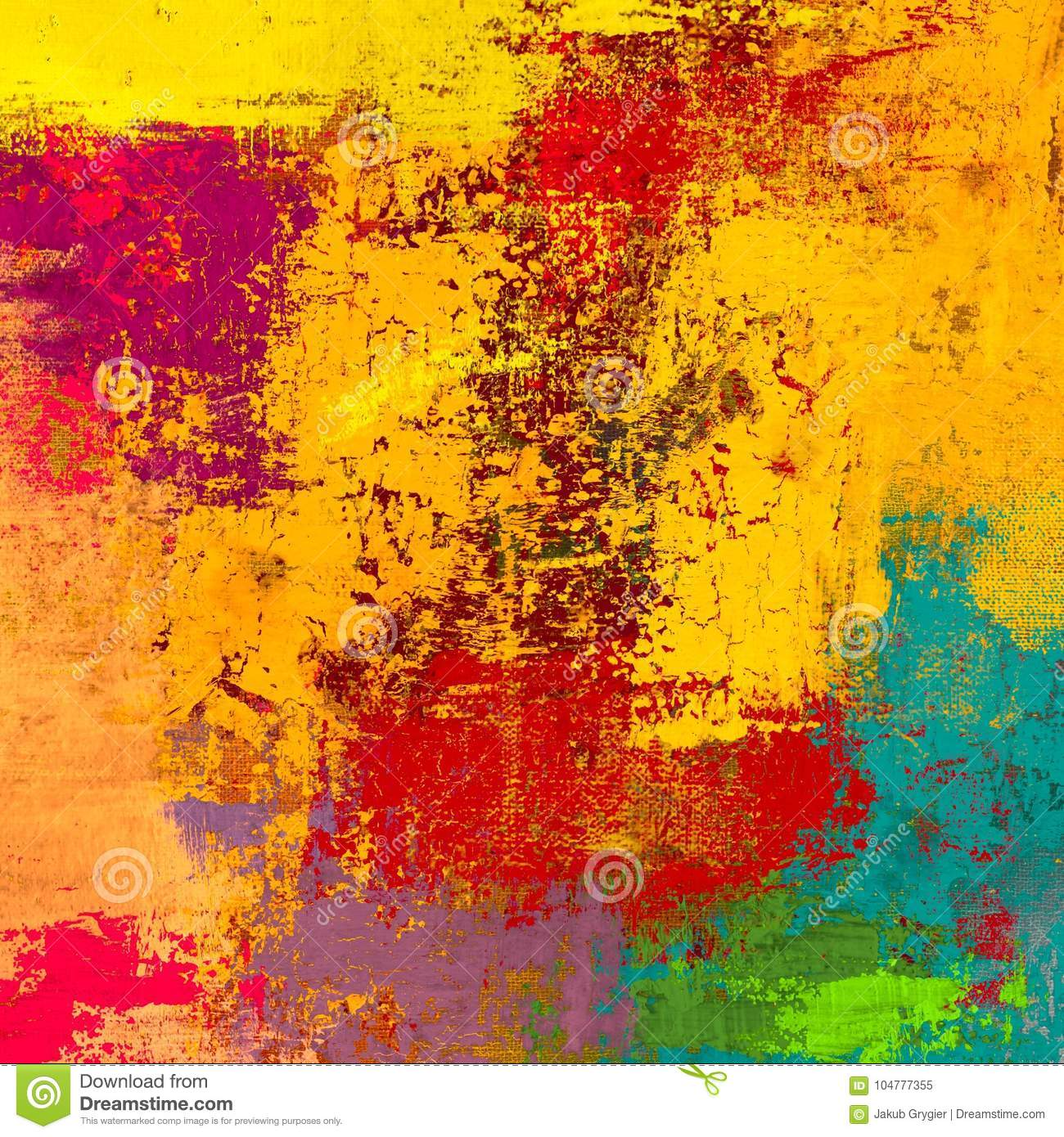 Oil Painting On Canvas Handmade Abstract Art Texture Colorful