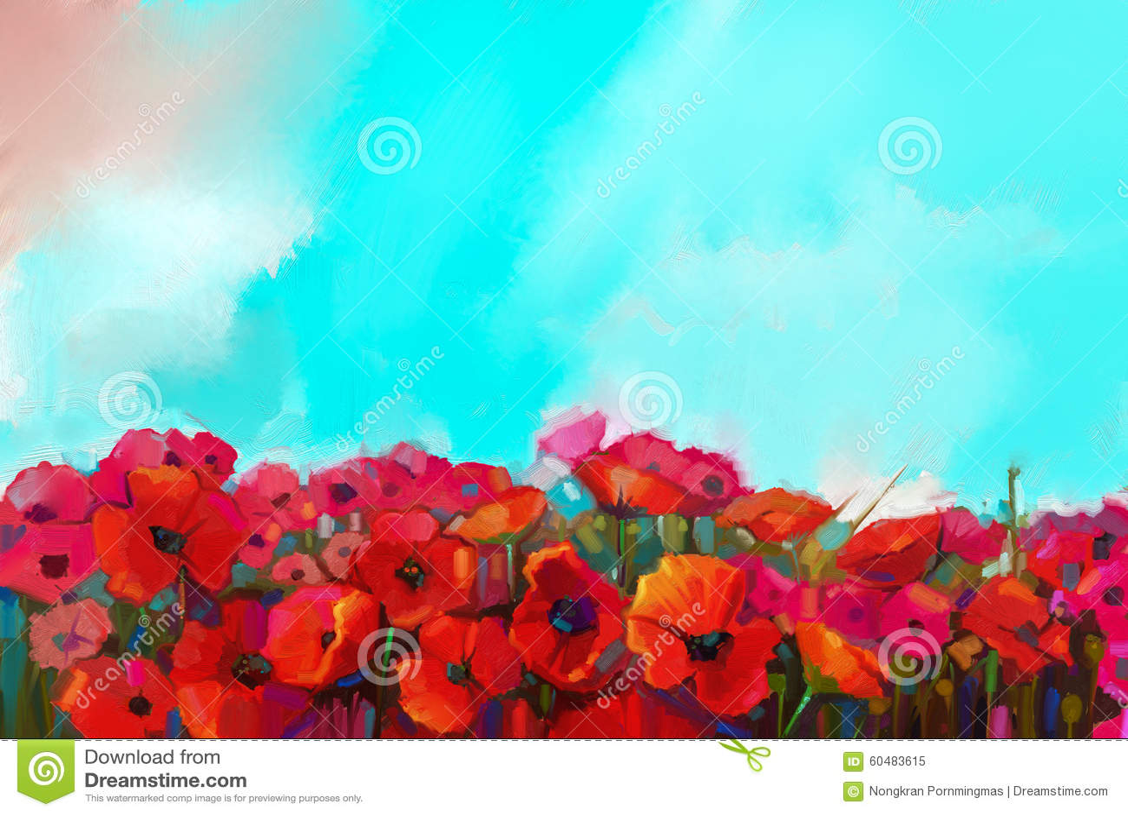 Flower Field Oil Painting
