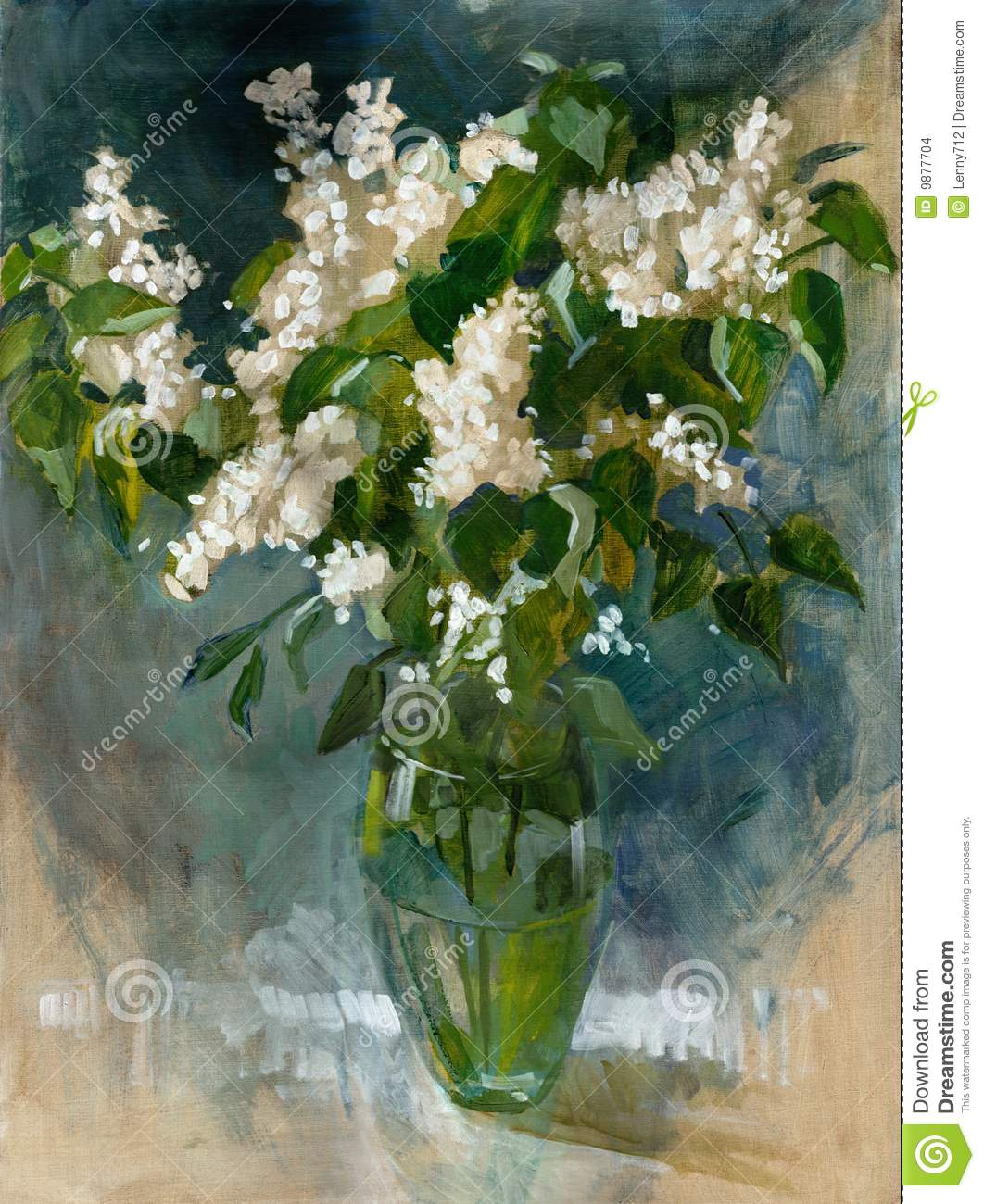 Oil Painting Flowers Stock Images Image 9877704