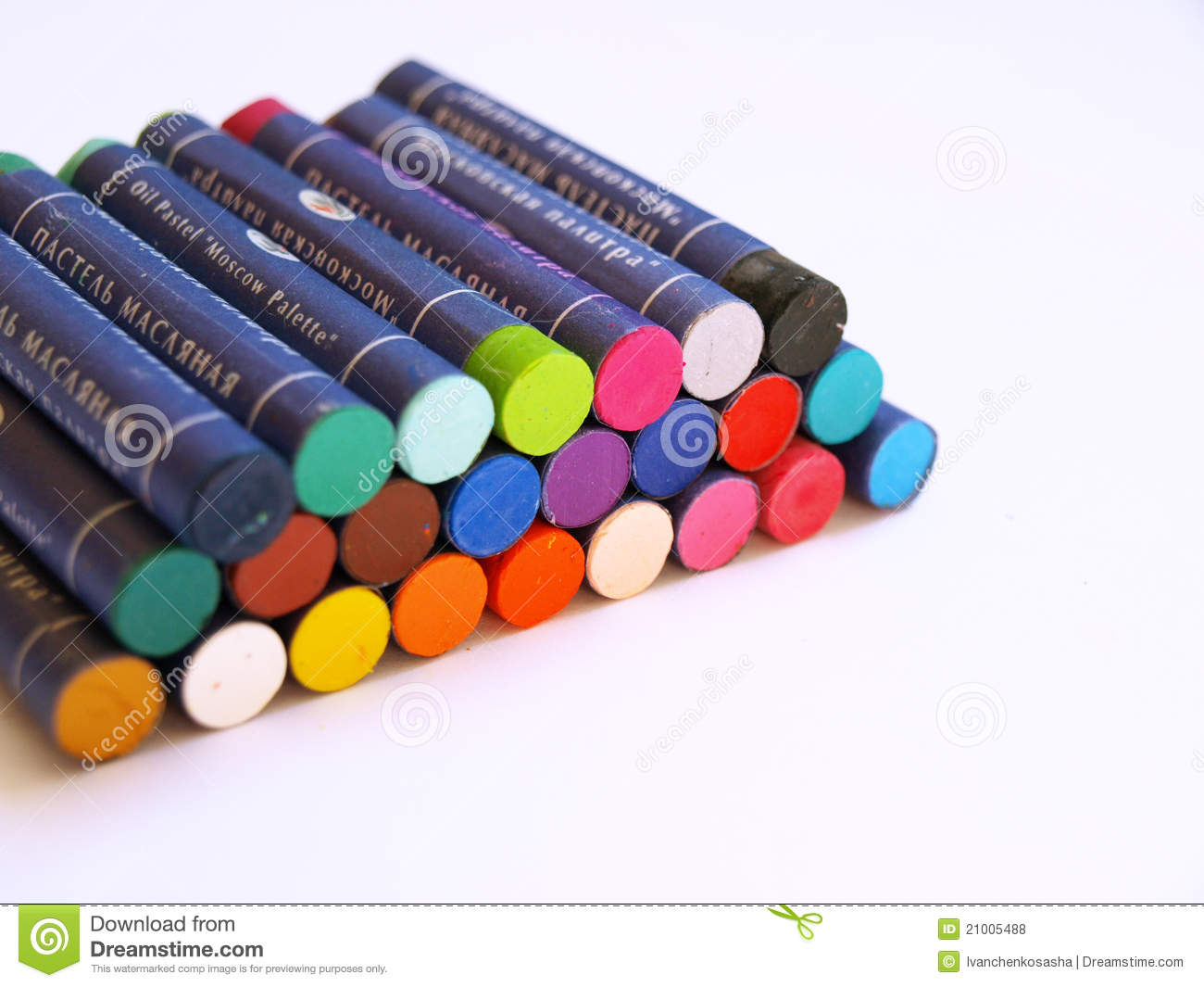 oil pastel crayons stock photo image of decorate color 21005488