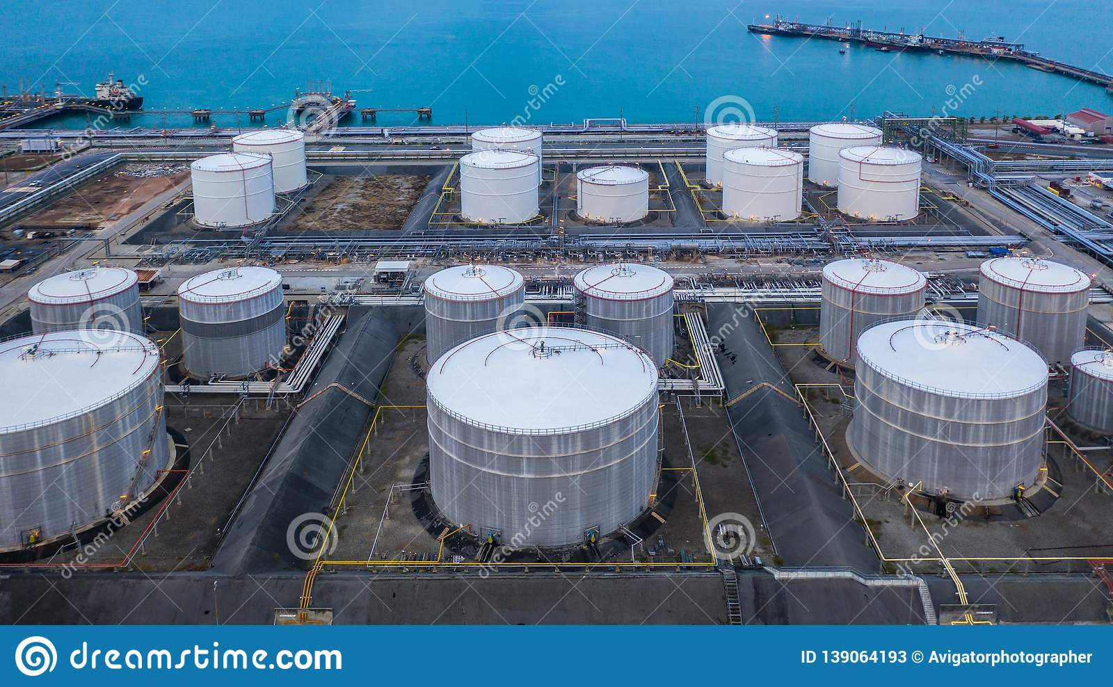 Oil And Petrochemical Tank, Storage Of Oil And Petrochemical