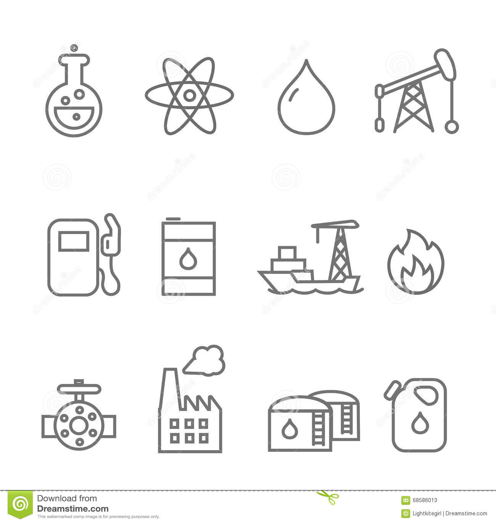 oil industry icon set vector illustration
