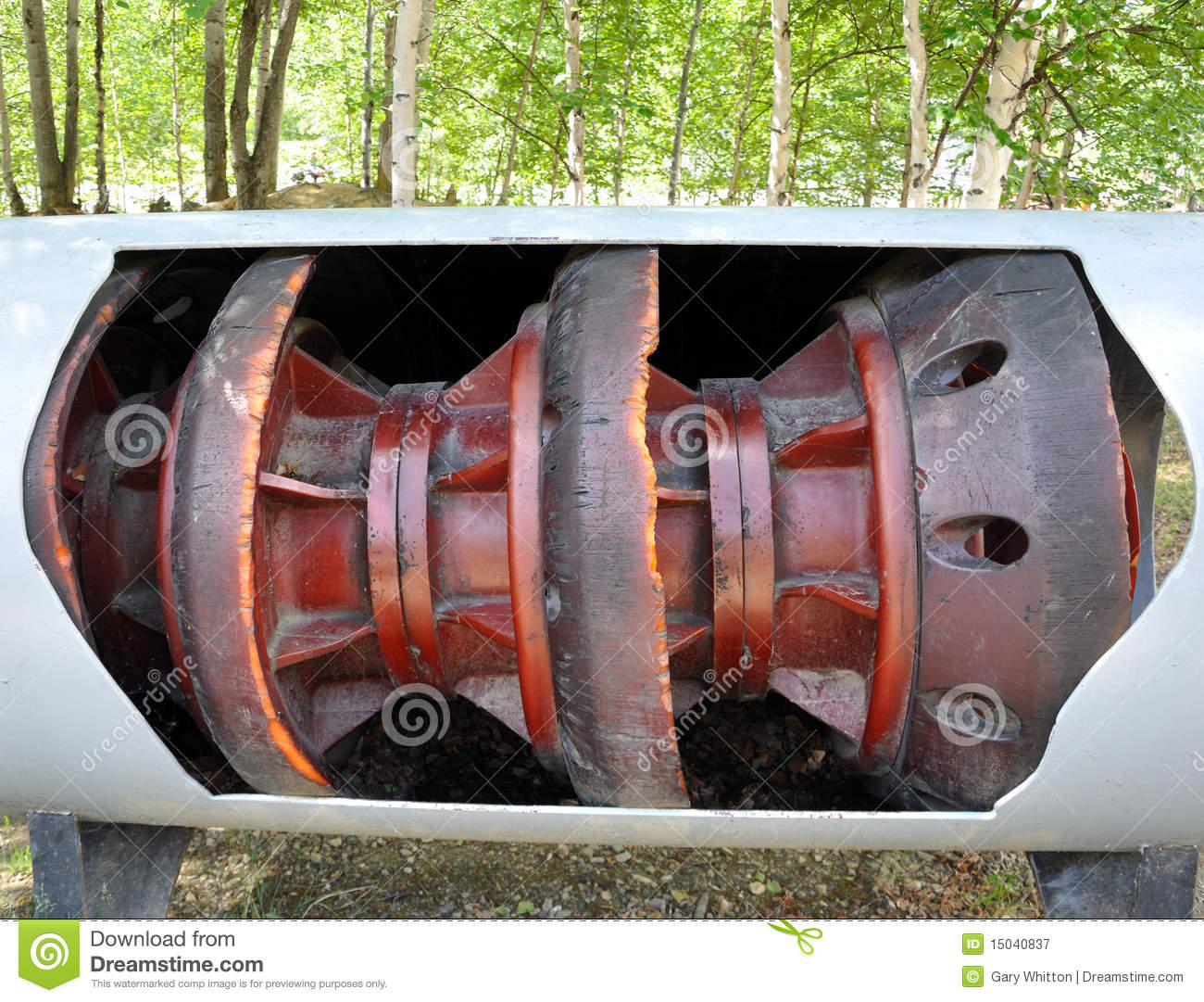 Oil pipeline pig stock image of business drilling
