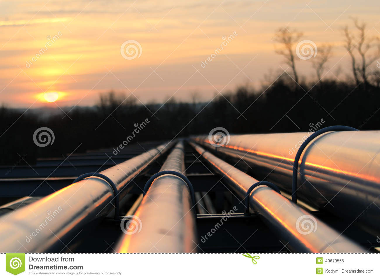 Oil pipeline transportation way on african continent
