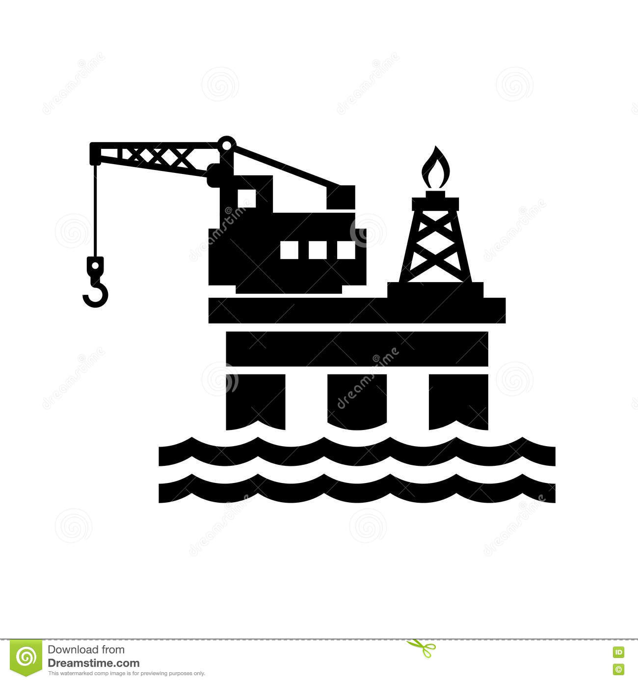 Oil Platform For Logo And Icon. Vector Stock Vector - Image: 51491487