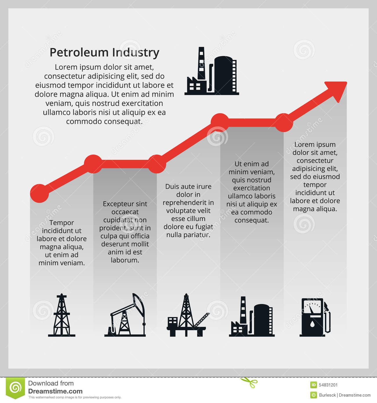 Oil Price. Increasing Price Of Oil Stock Vector - Illustration of ...