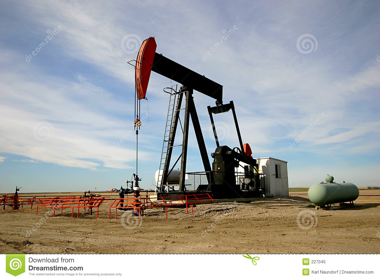 Oil Pump Jack Royalty Free Stock Photo - Image: 227045