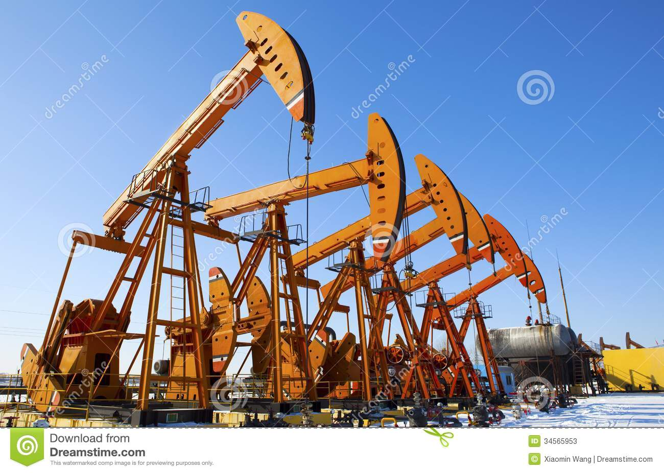 Oil Pump Jack Stock Photos - Image: 34565953