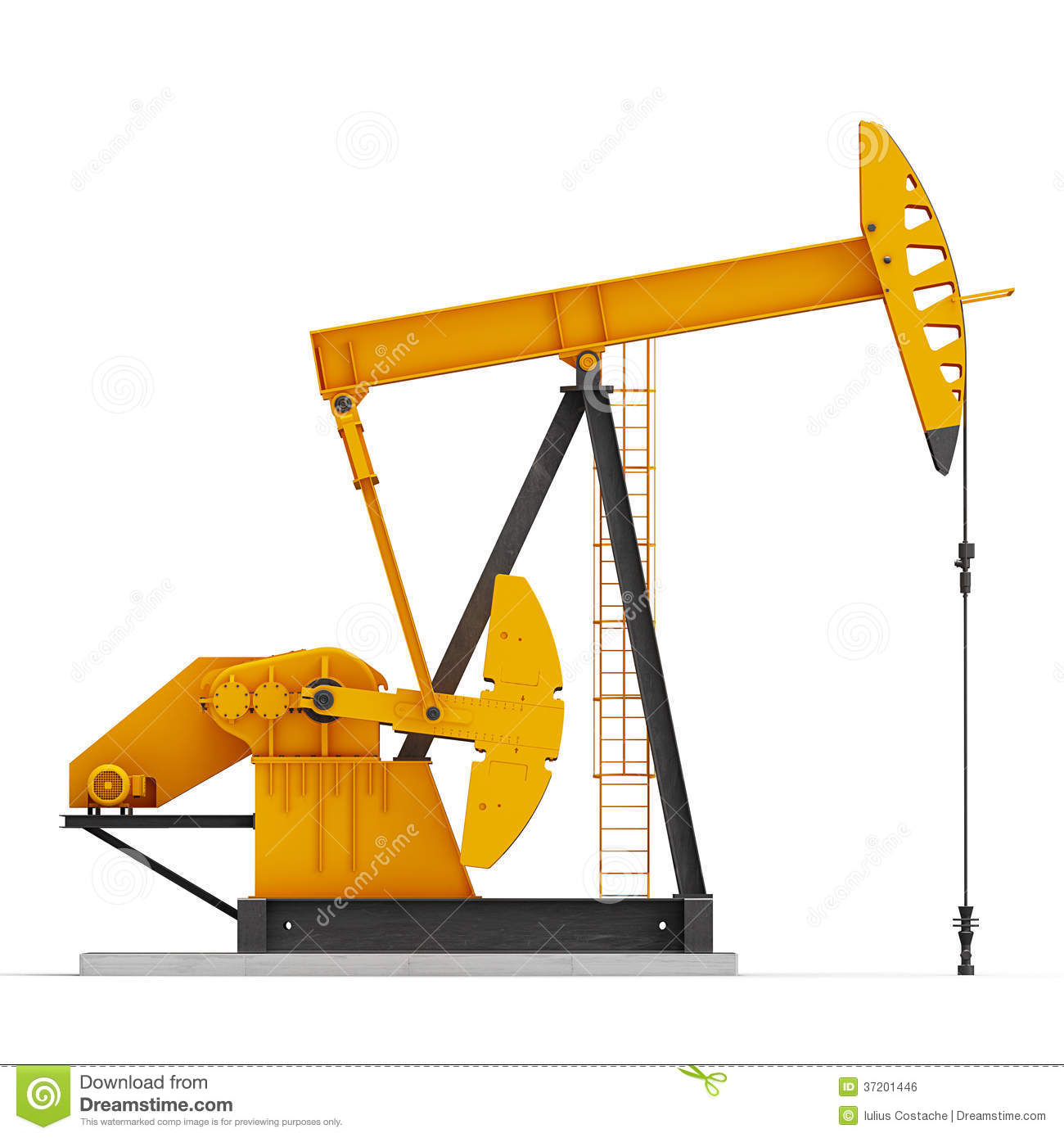 Oil Pump Royalty Free Stock Image - Image: 37201446