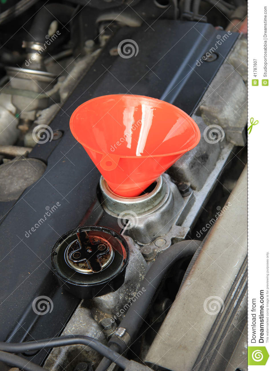 Oil refill stock image image of petrol automotive for Motor oil for older cars