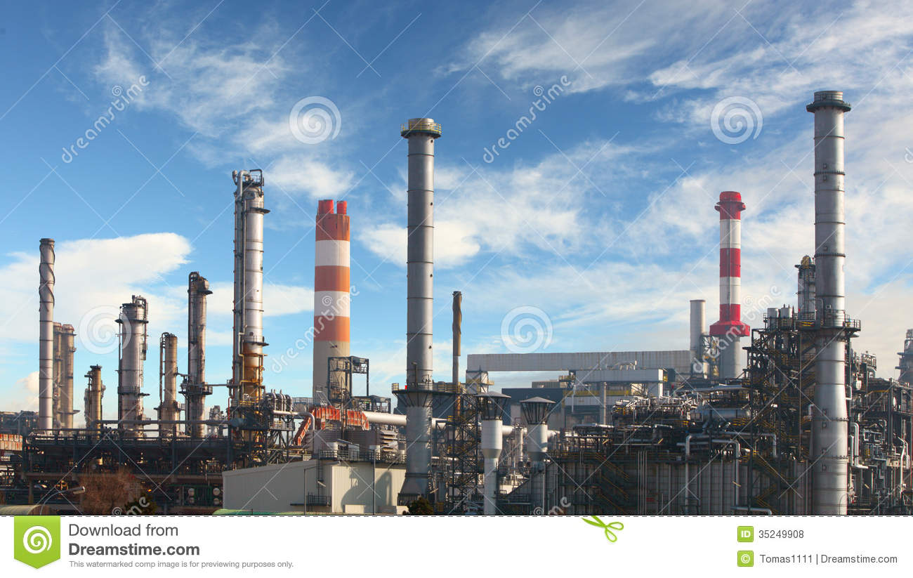 Oil Refinery Factory Royalty Free Stock Photos Image