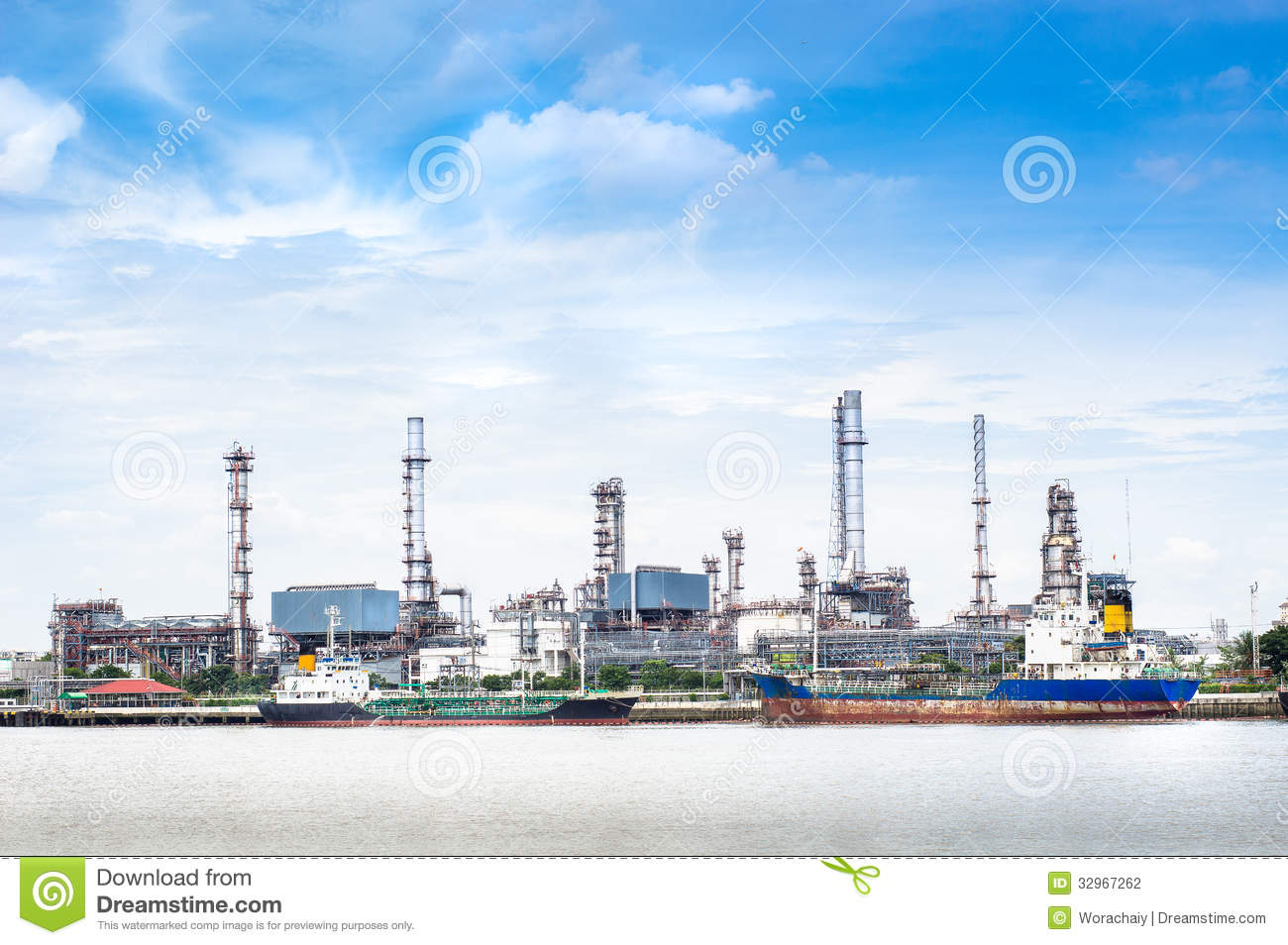 Oil Refinery Factory Stock Photo Image Of Petrochemical