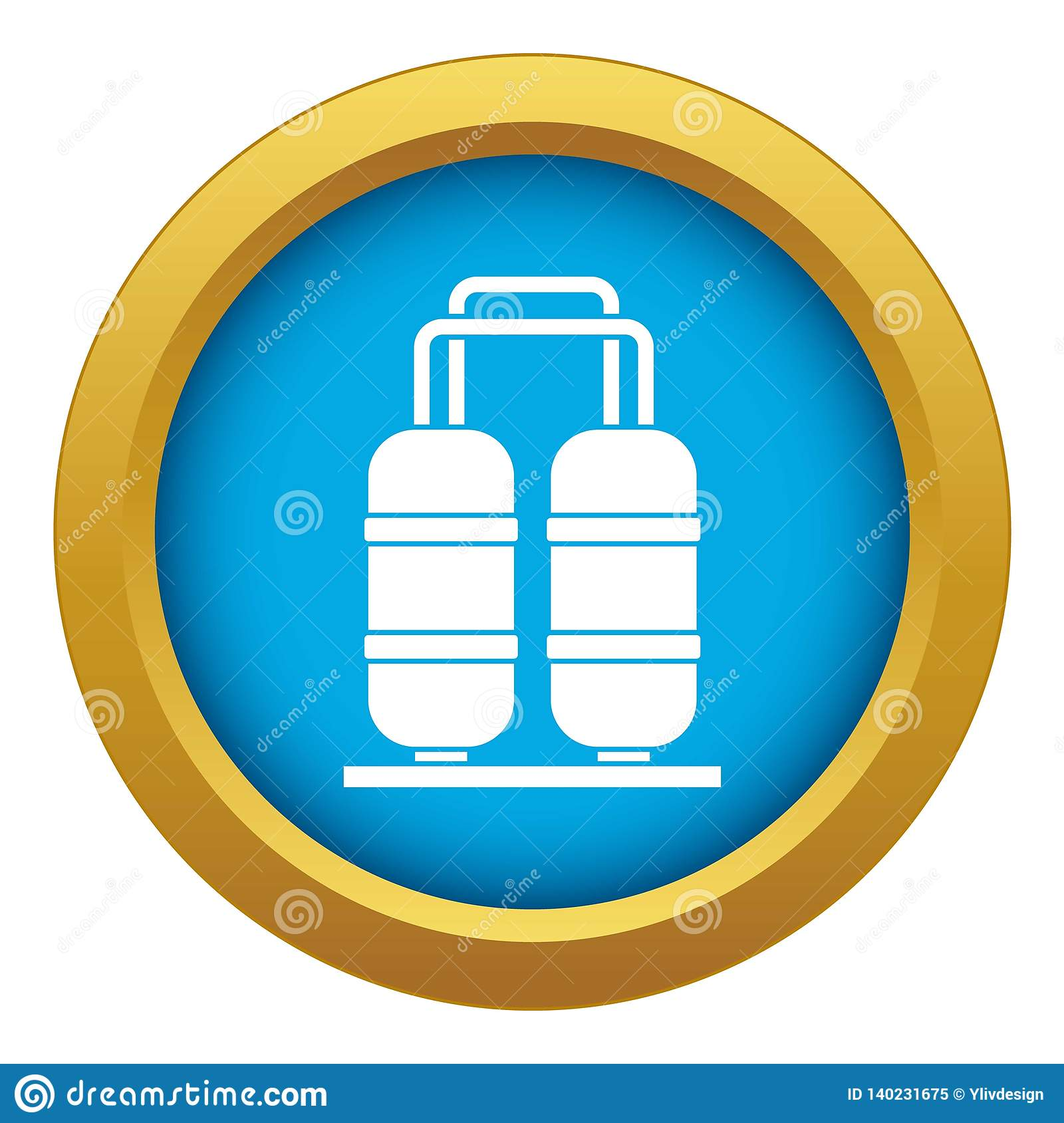 Oil Refinery Plant Icon Blue Vector Isolated Stock Vector