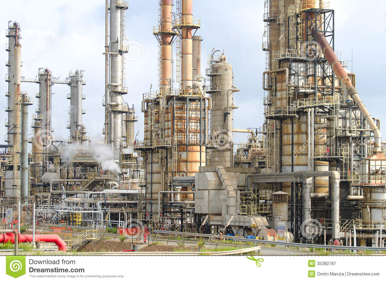 Oil Refinery Plant Royalty Free Stock Photography Image