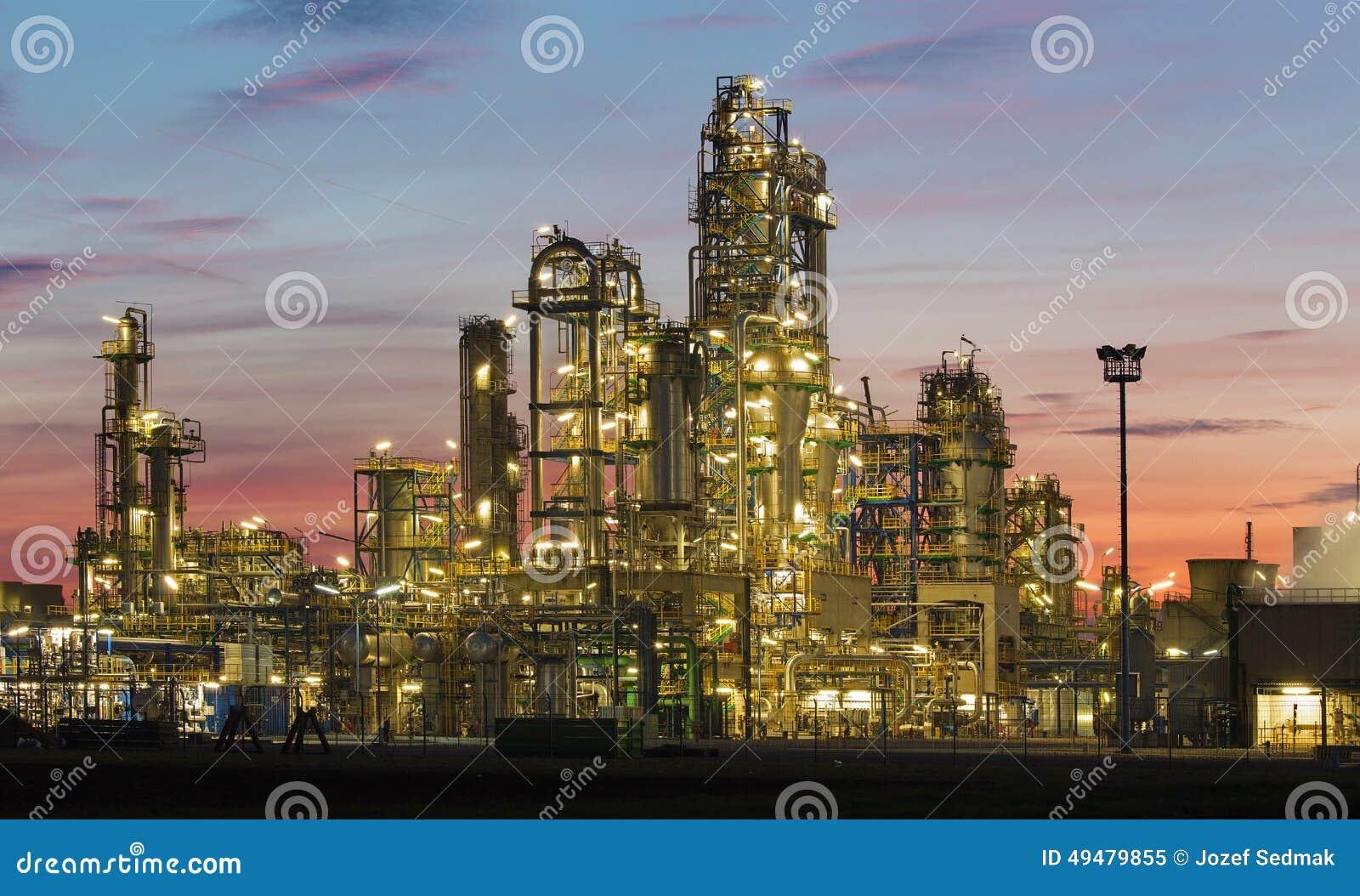 Schwechat Austria  city photo : oil revinery schwechat austria dusk 49479855
