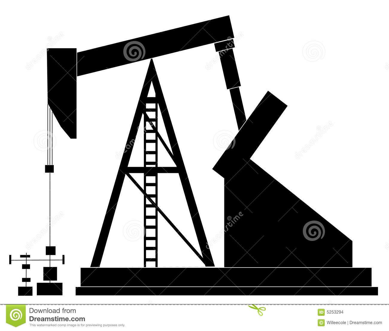 Oil Rig Stock Vector. Illustration Of Machine, Global