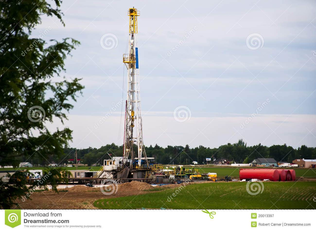 Oil Rig Drilling In Eastern Colorado USA Royalty Free