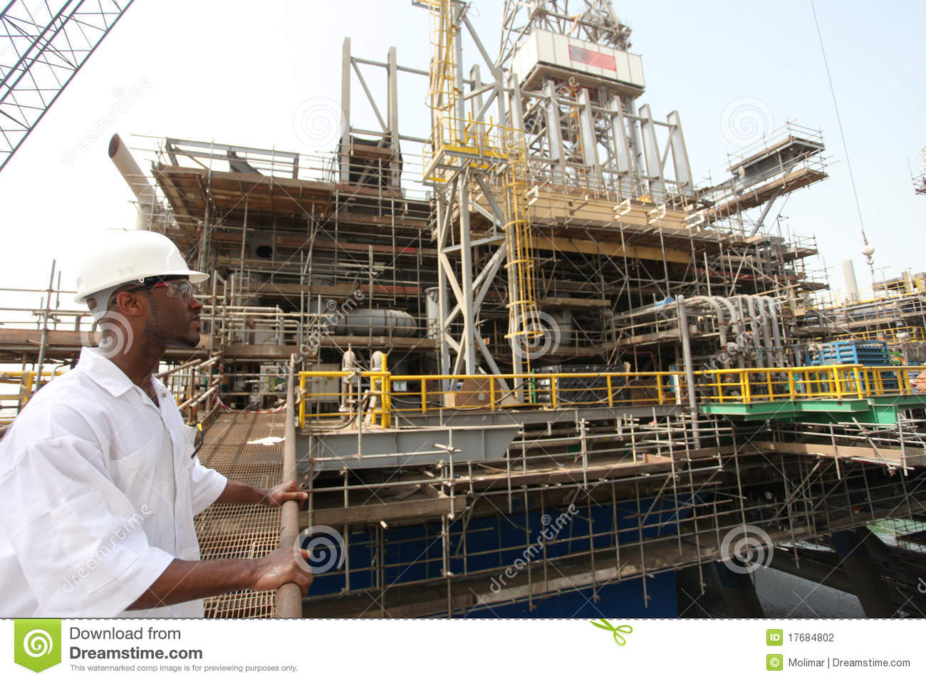Instruments In Electrical Construction : Oil rig electrical engineer stock photography image