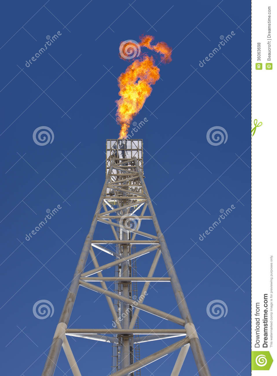 Tower Fuel Rule : Oil rig gas flare tower stock photo image of