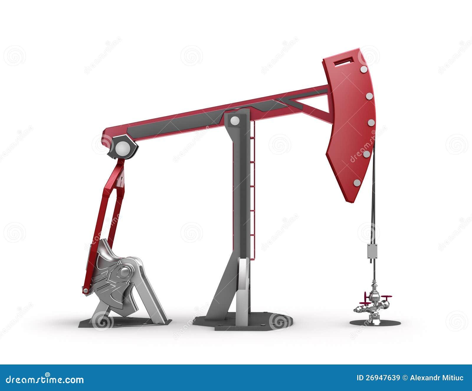 oil rig pump jack on white stock illustration image Oil Derrick Clip Art Outline oil rig derrick clipart
