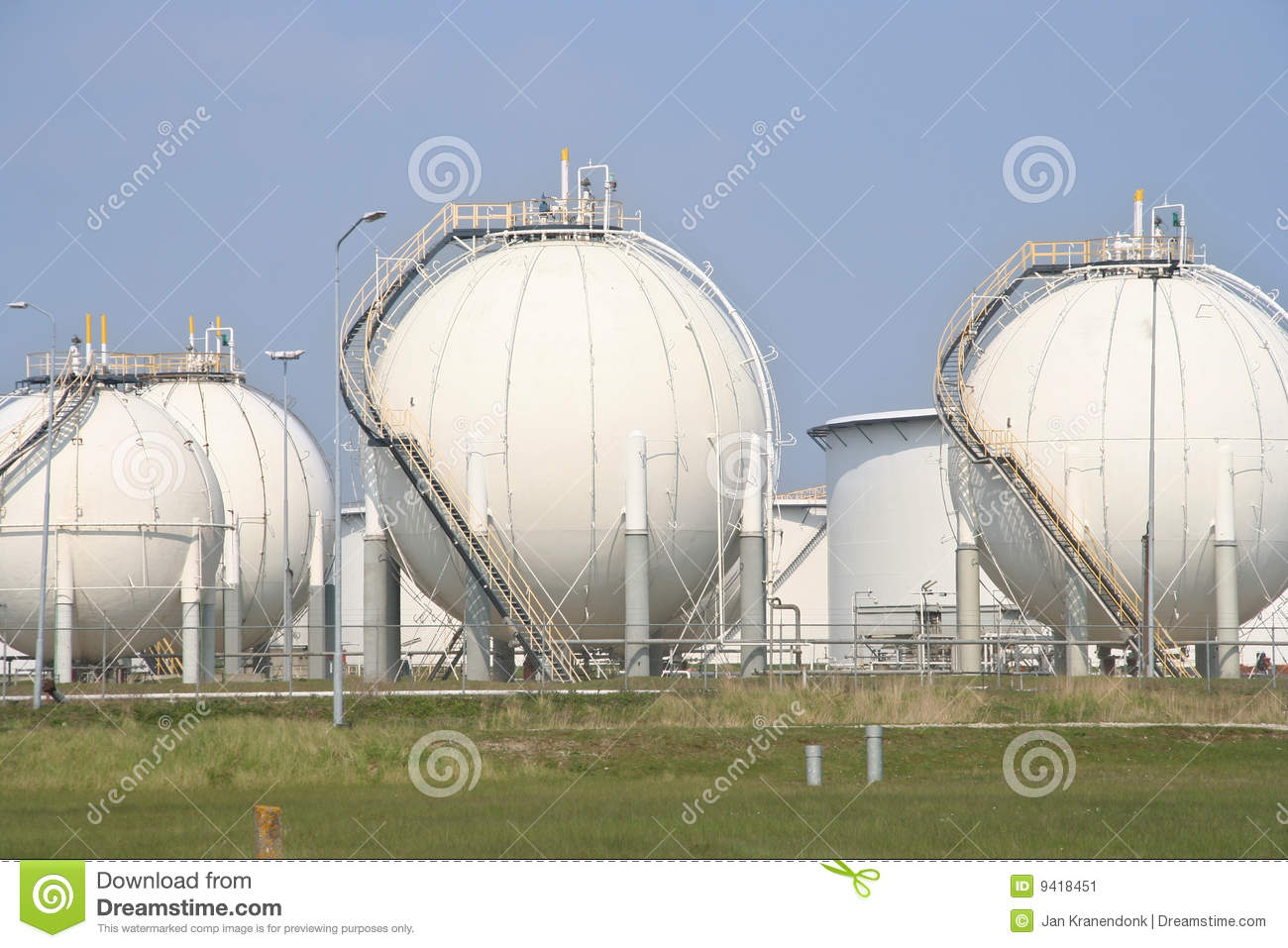 Oil Silos Stock Image Image Of Shape Stainless Huge