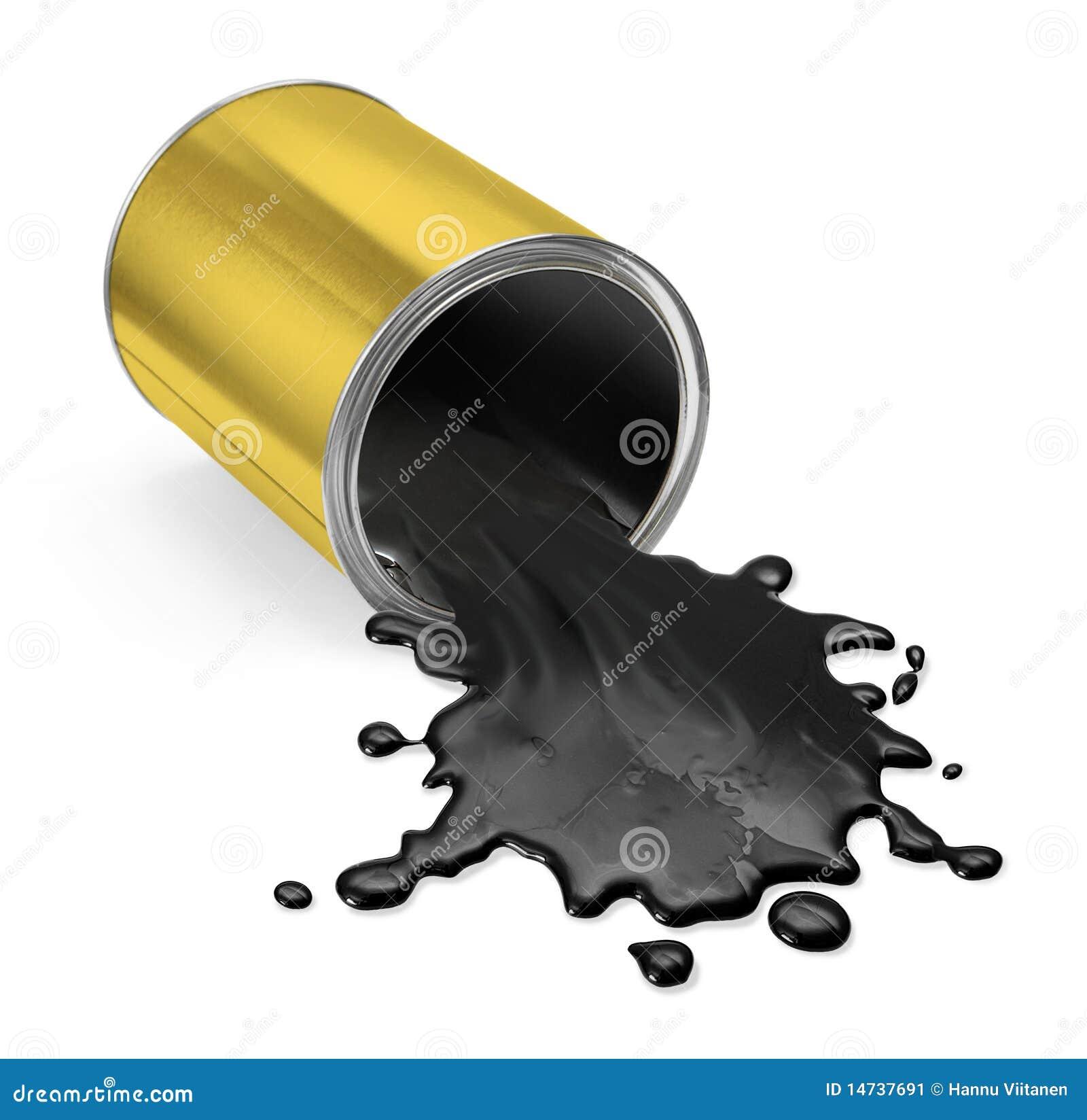 Oil Spill Barrel Yellow Stock Illustration Illustration