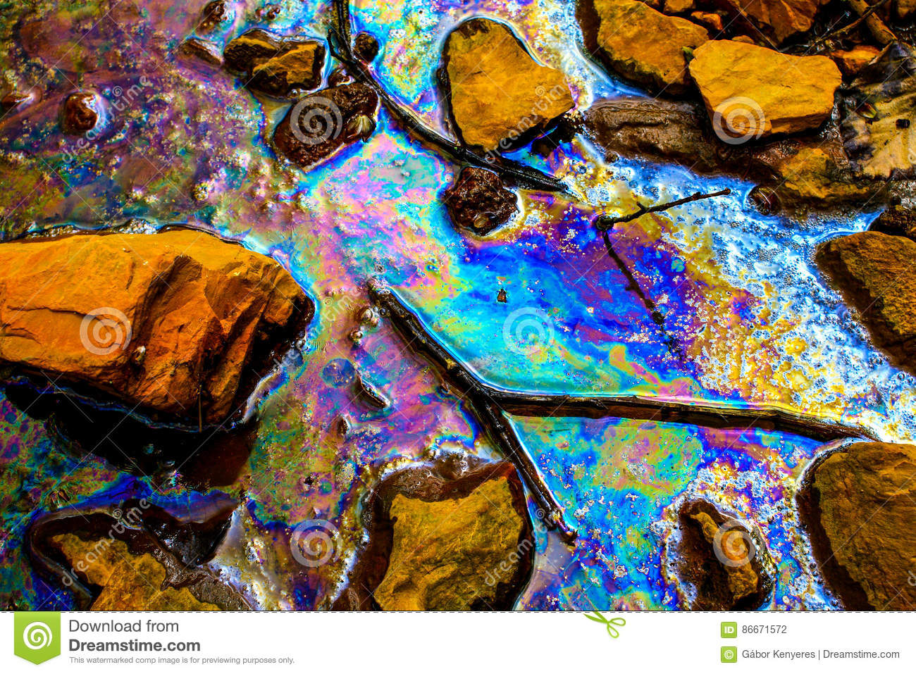 Oil spill. Environmental pollution in Hungary, 04/16/2011