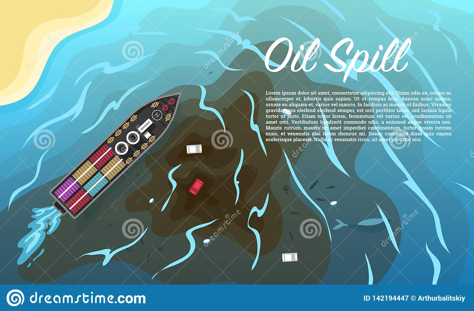 Oil Spill. Environmental Pollution. Ecological Problems ...
