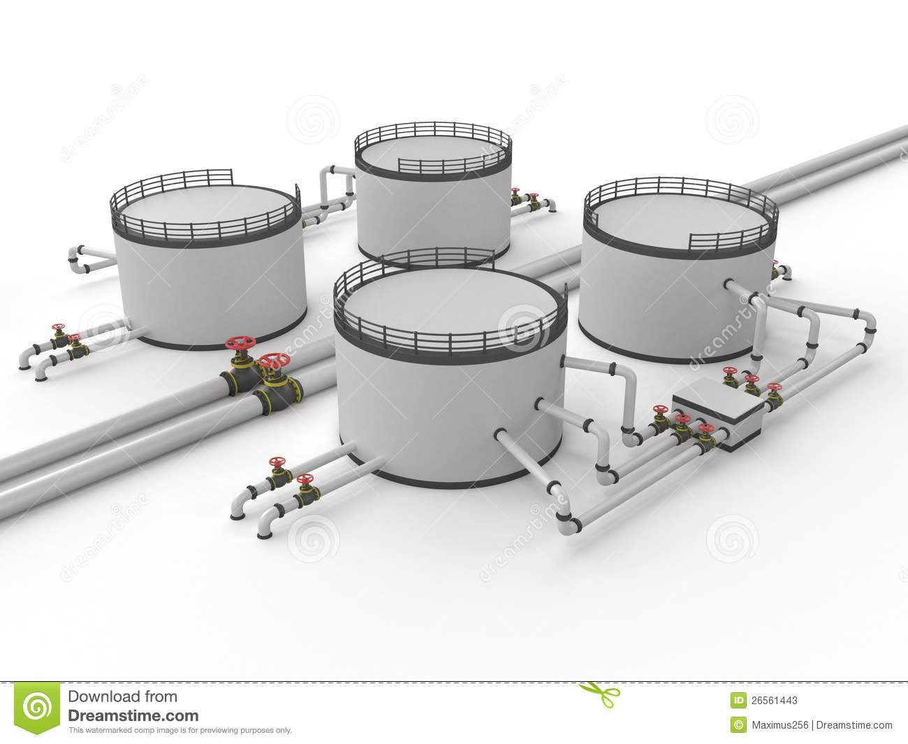 Oil Storage Tank And Pipeline Stock Photos Image 26561443