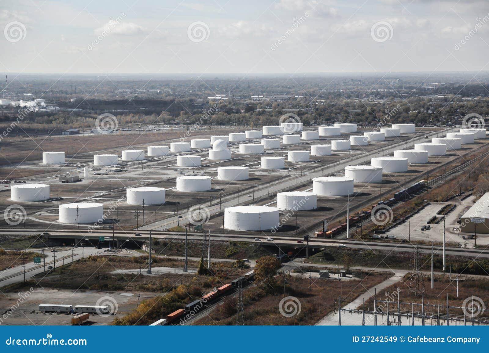 Oil tank refinery field