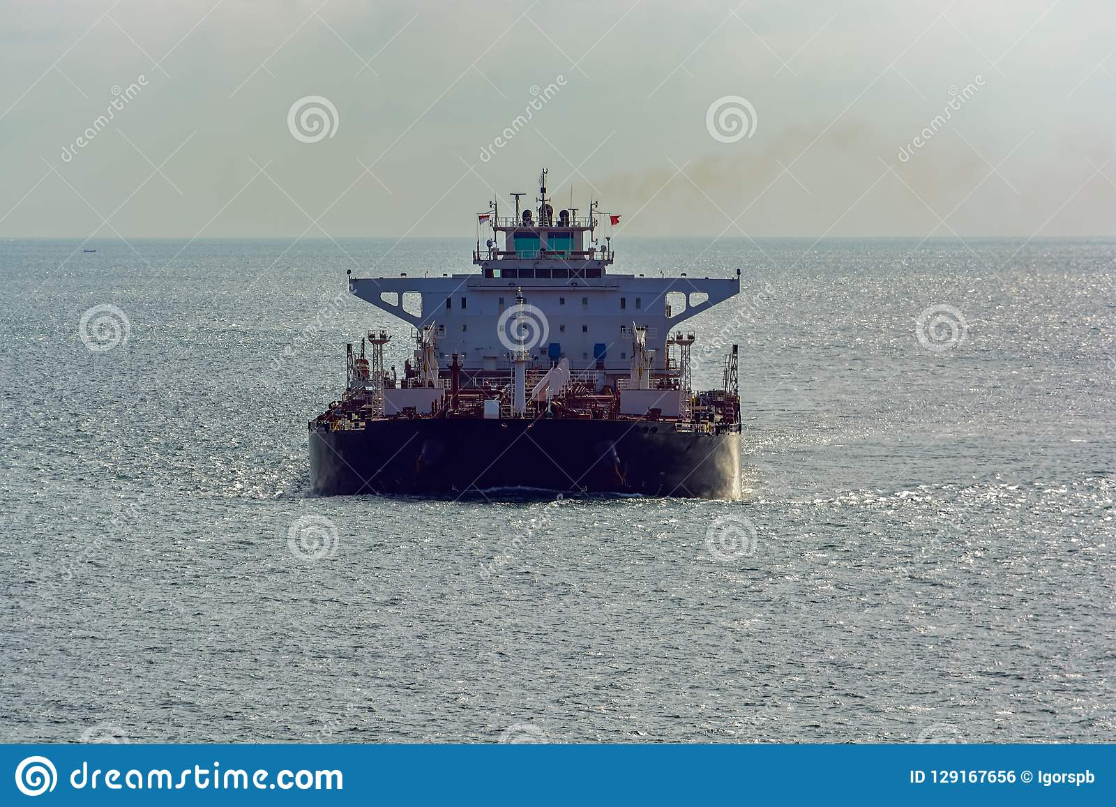 Oil Tanker In Singapore Strait  Stock Photo - Image of business
