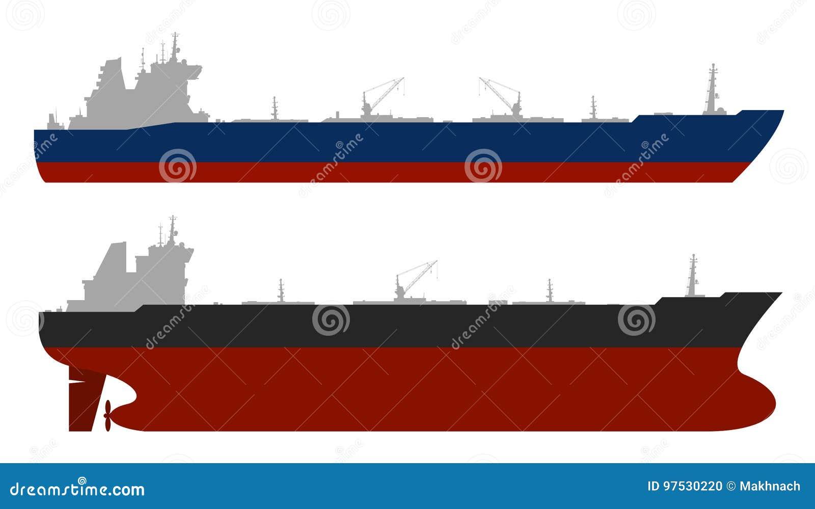 Oil tankerss set. Vector